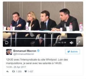 Macron à l'usine de whirlpool