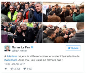 Marine Le Pen à Whirlpool