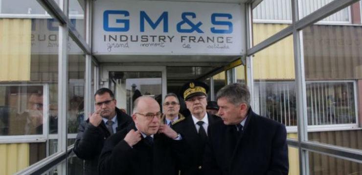 Manifestation usine GM&S dans la creuse