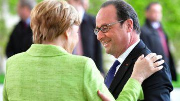 François Hollande dinée d'adieu avec Angela Merkel